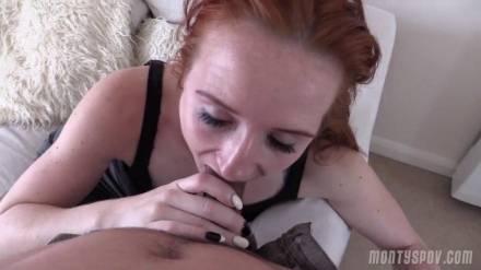 Грубый анальный секс с рыжей сучкой