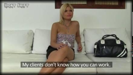 Венгерская блондинка развлекается на кастинге с американцем